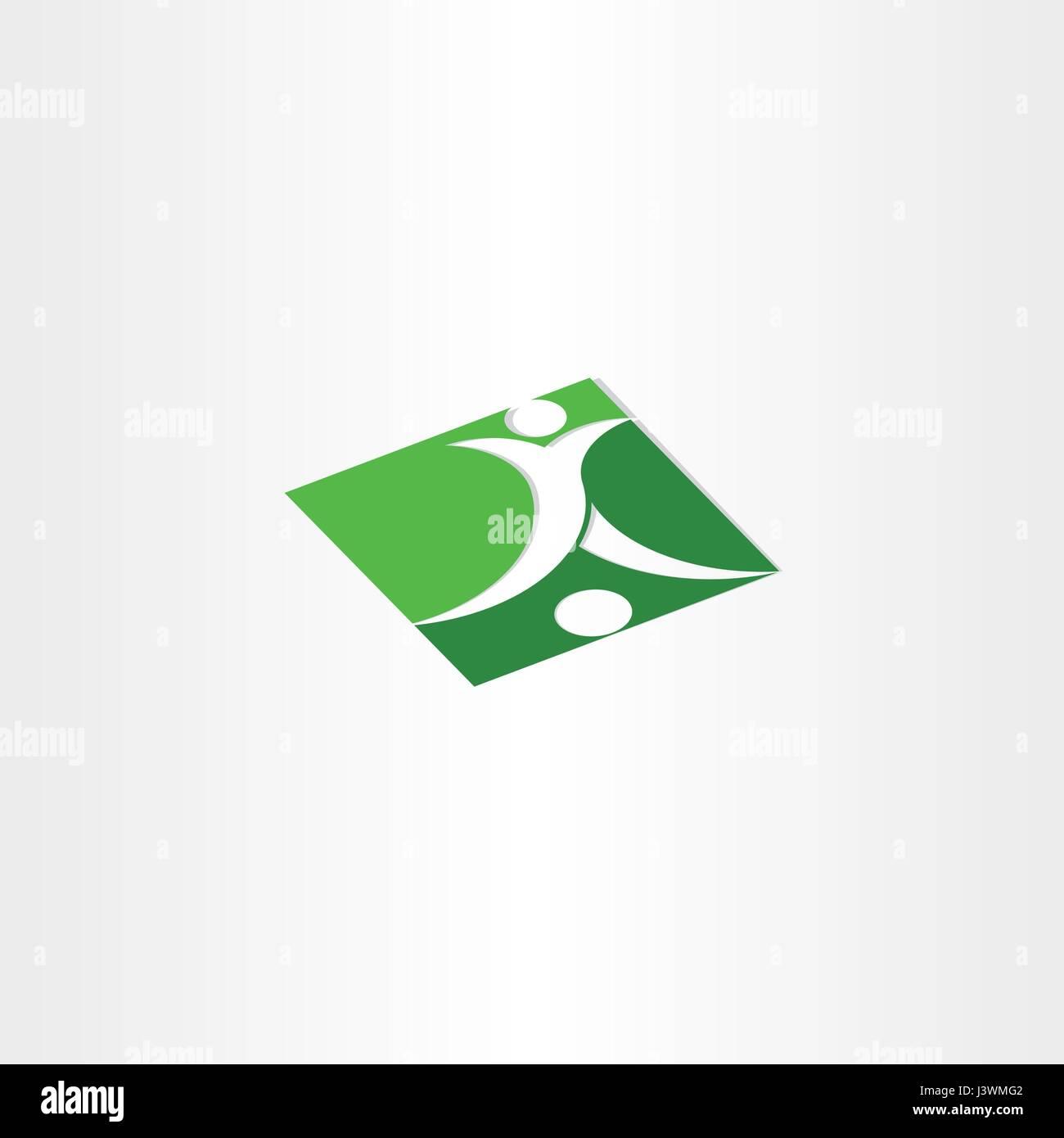 footballer shooting soccer green icon - Stock Vector
