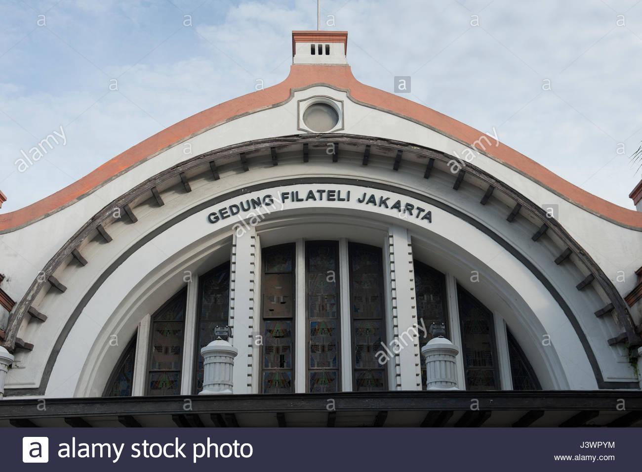 Jakarta Indonesia Gedung Filateli Philatelic building - Stock Image