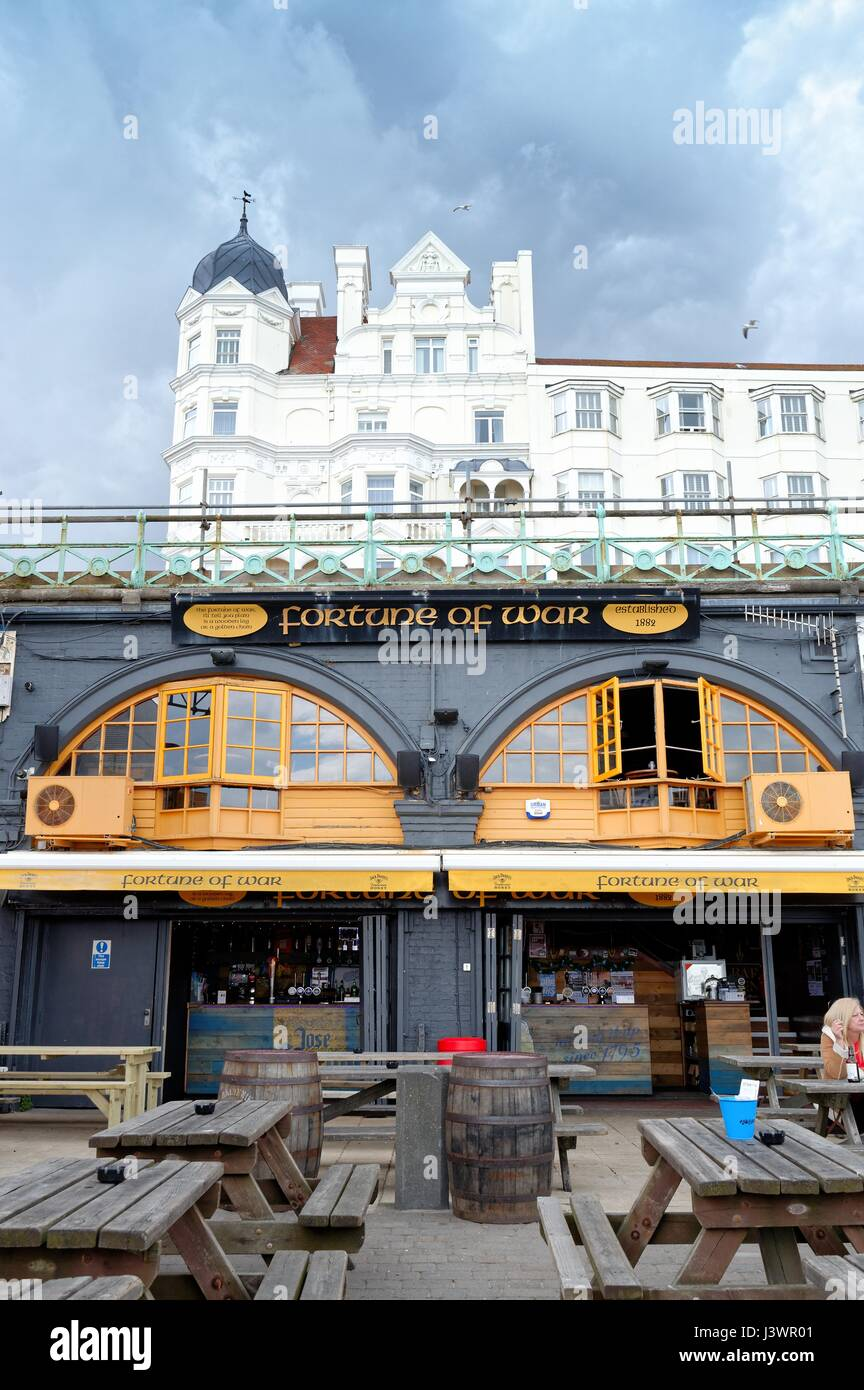 Fortune of War public house on Brighton seafront east Sussex UK Stock Photo