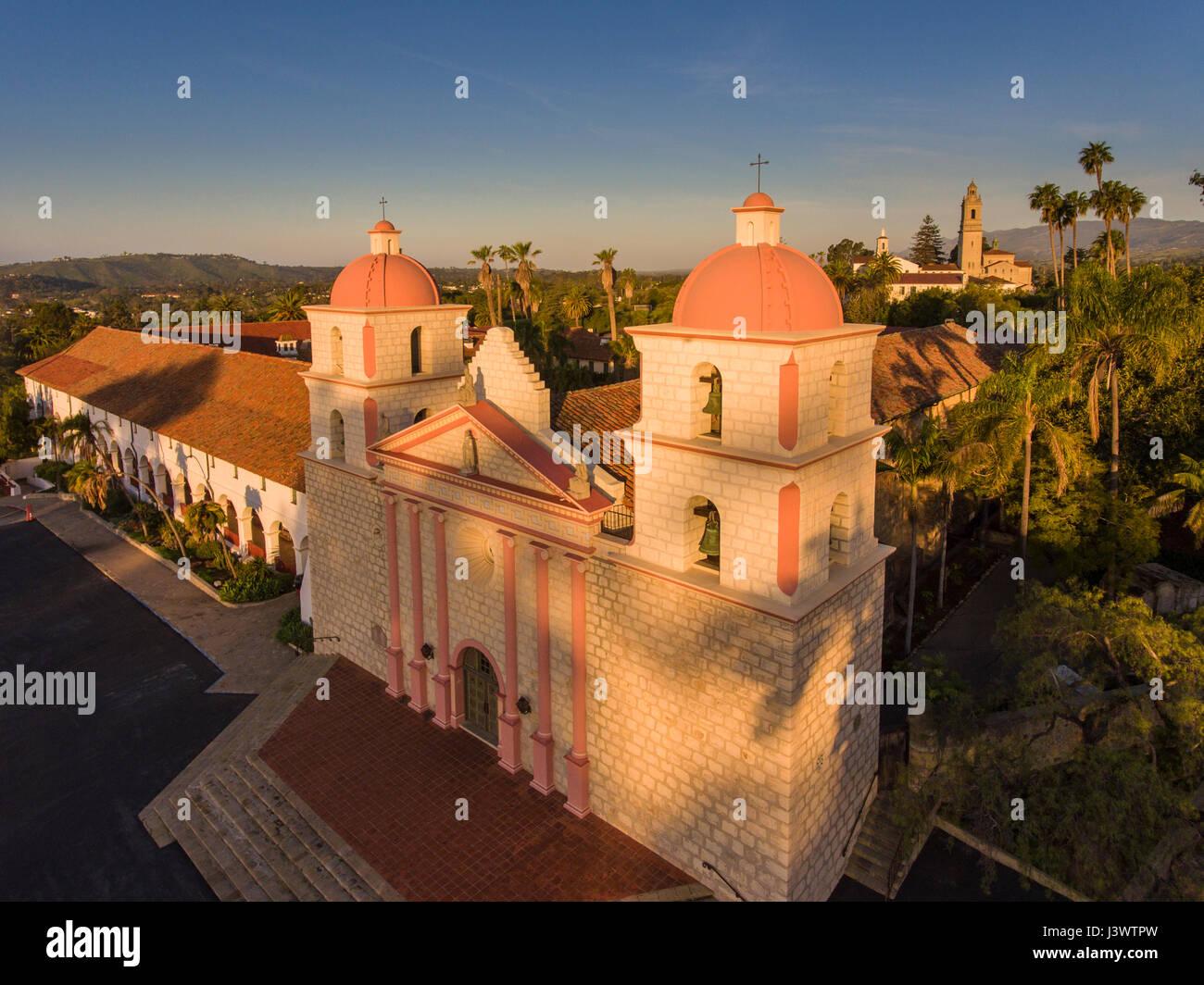 Old Mission Santa Barbara, Santa Barbara, California - Stock Image