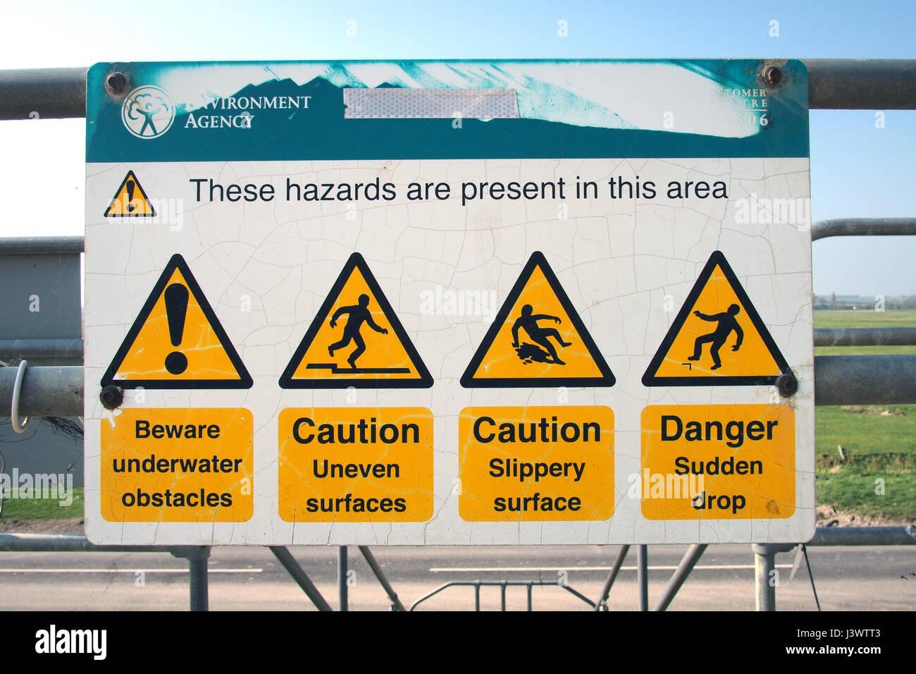 Health & Safety Hazards warning sign - Stock Image
