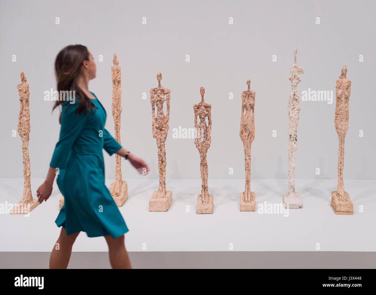 Tate Modern, London, UK. 8th May, 2017. The UK's first major retrospective of Swiss artist Alberto Giacometti (1901 - Stock Image
