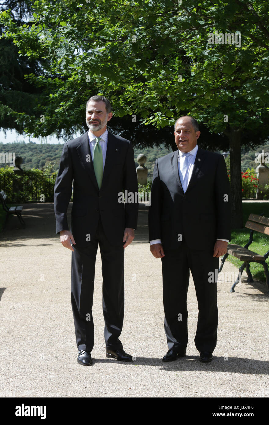 Spanish King Felipe Vi During Royal Meeting With Costa Rica