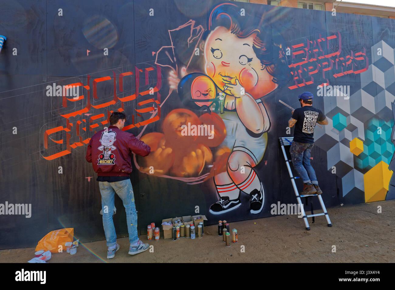 Glasgow, Scotland, UK. 7th May, 2017. 'Yard Works Festival 2017' is an International celebration of Graffiti, - Stock Image