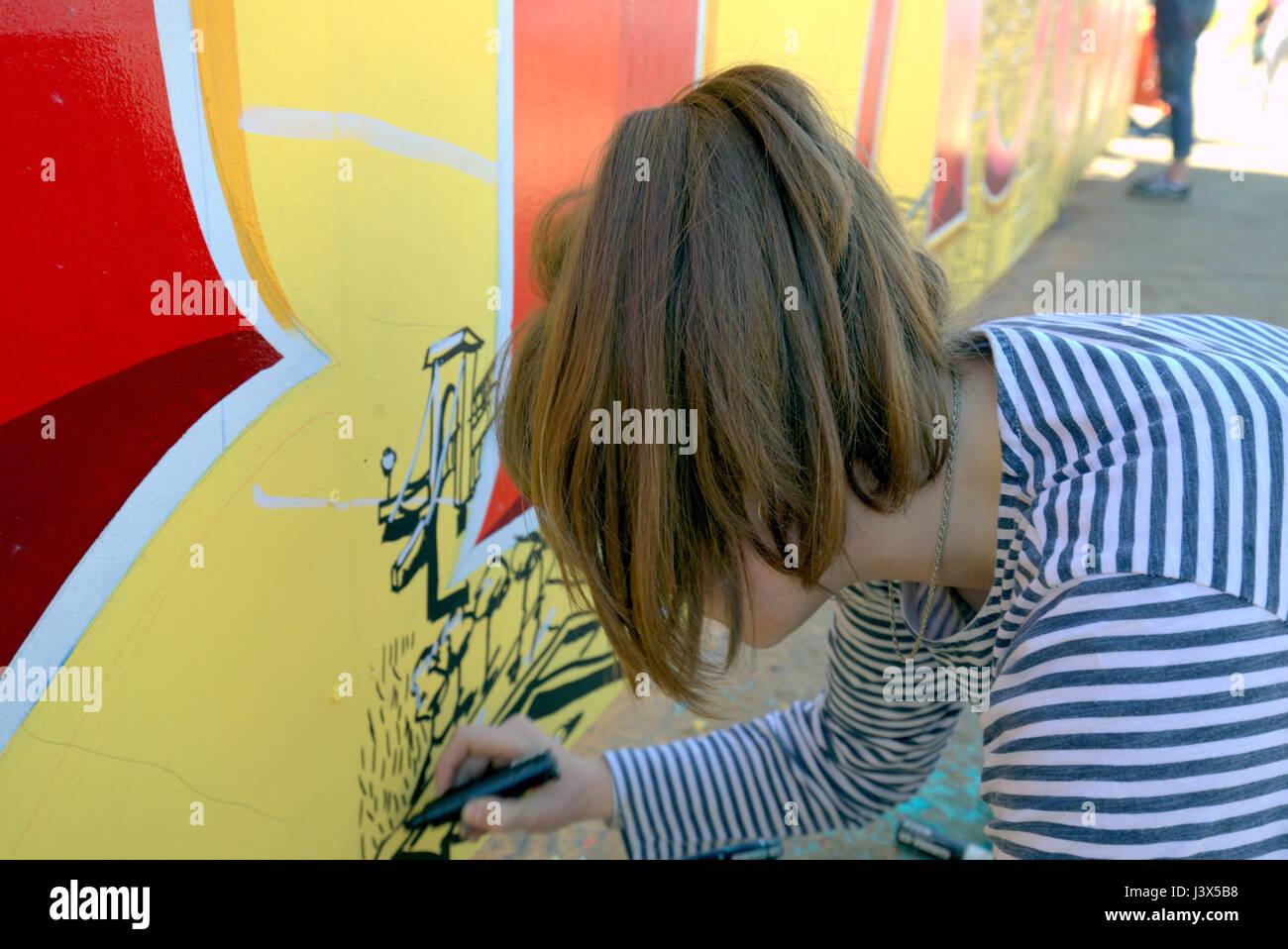 Glasgow, Scotland, UK. 7th May, 2017. 'Yard Works Festival 2017' is an International celebration of Graffiti, Street - Stock Image