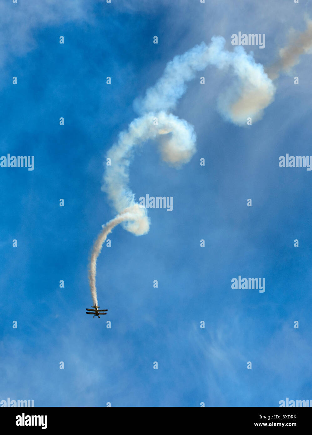 NobodyPaul Bennet's Wolf Pitts Pro performing at Wings over Illawarra 2017 Airshow, Albion Park, NSW, Australia - Stock Image