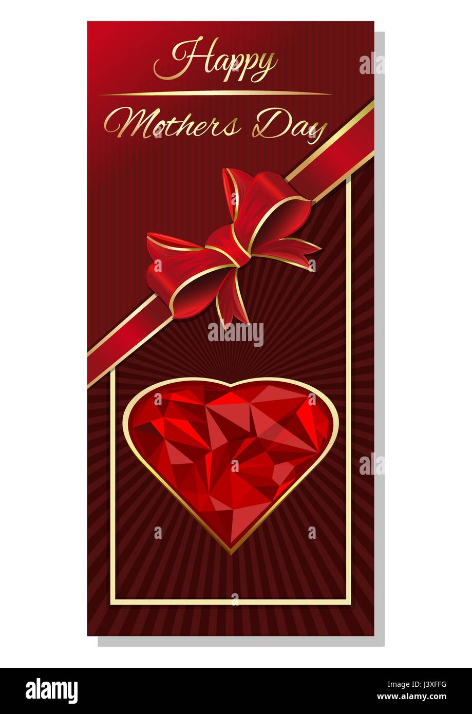 Mothers Day Greeting Card Design Stock Vector Art Illustration