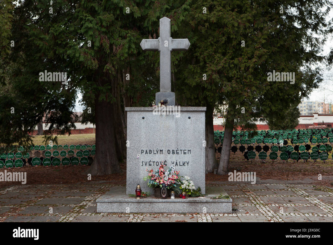 Monument to Czech soldiers fallen during the First World War in service of the Austro-Hungarian Army on the ground - Stock Image