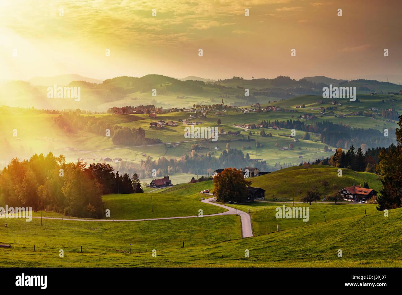 Scenic view, Appenzell, Appenzellerland, Switzerland - Stock Image