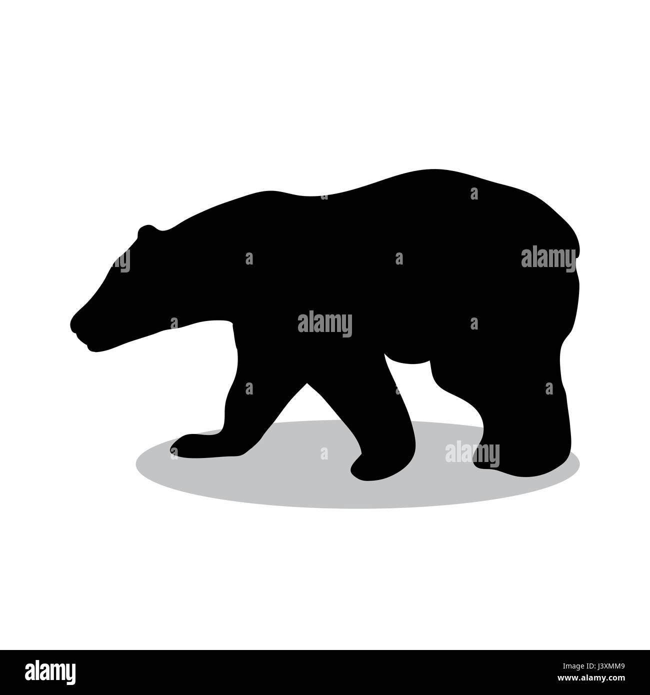 Bear wild black silhouette animal - Stock Vector