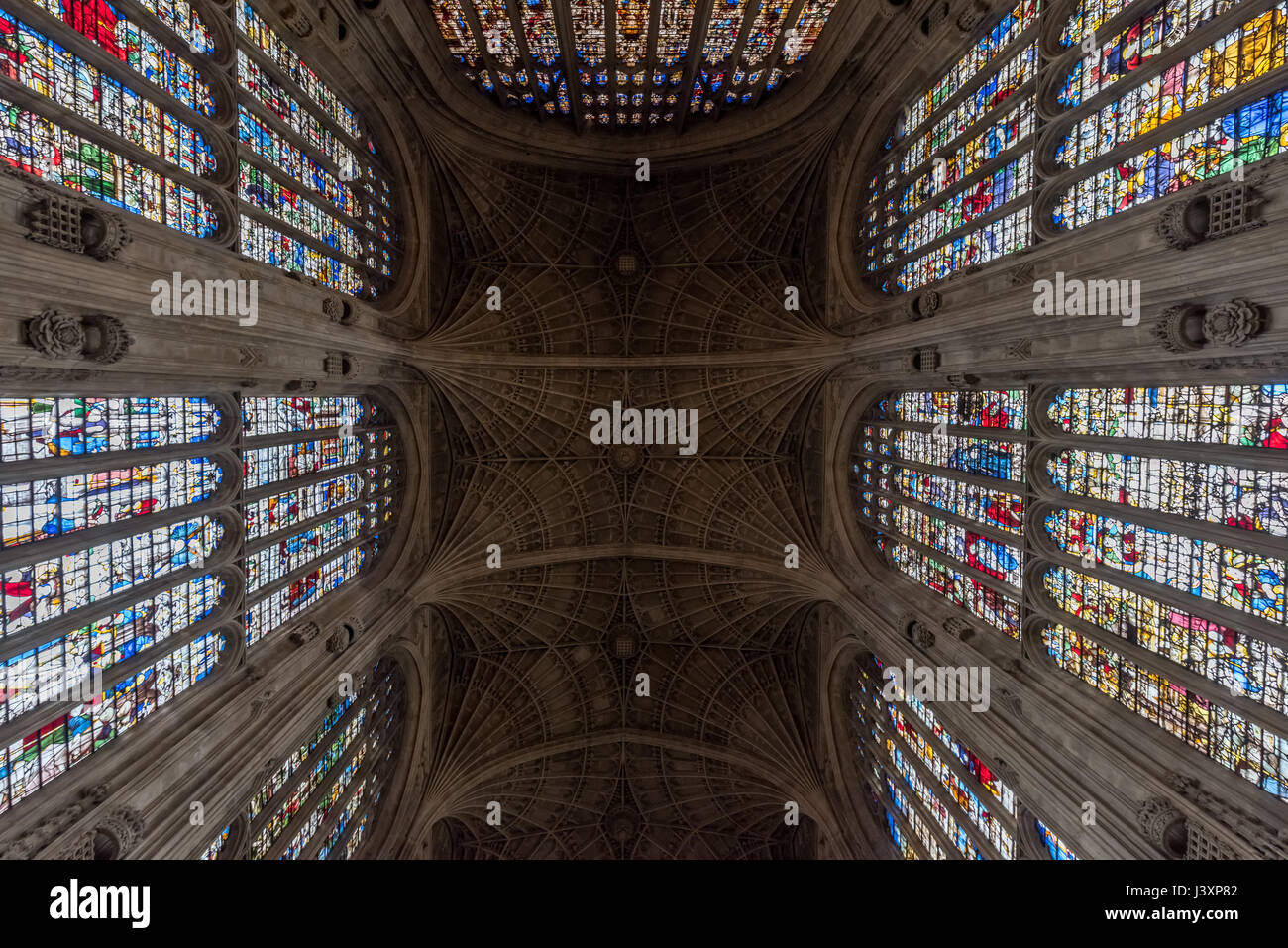 King's College Chapel from inside - Stock Image