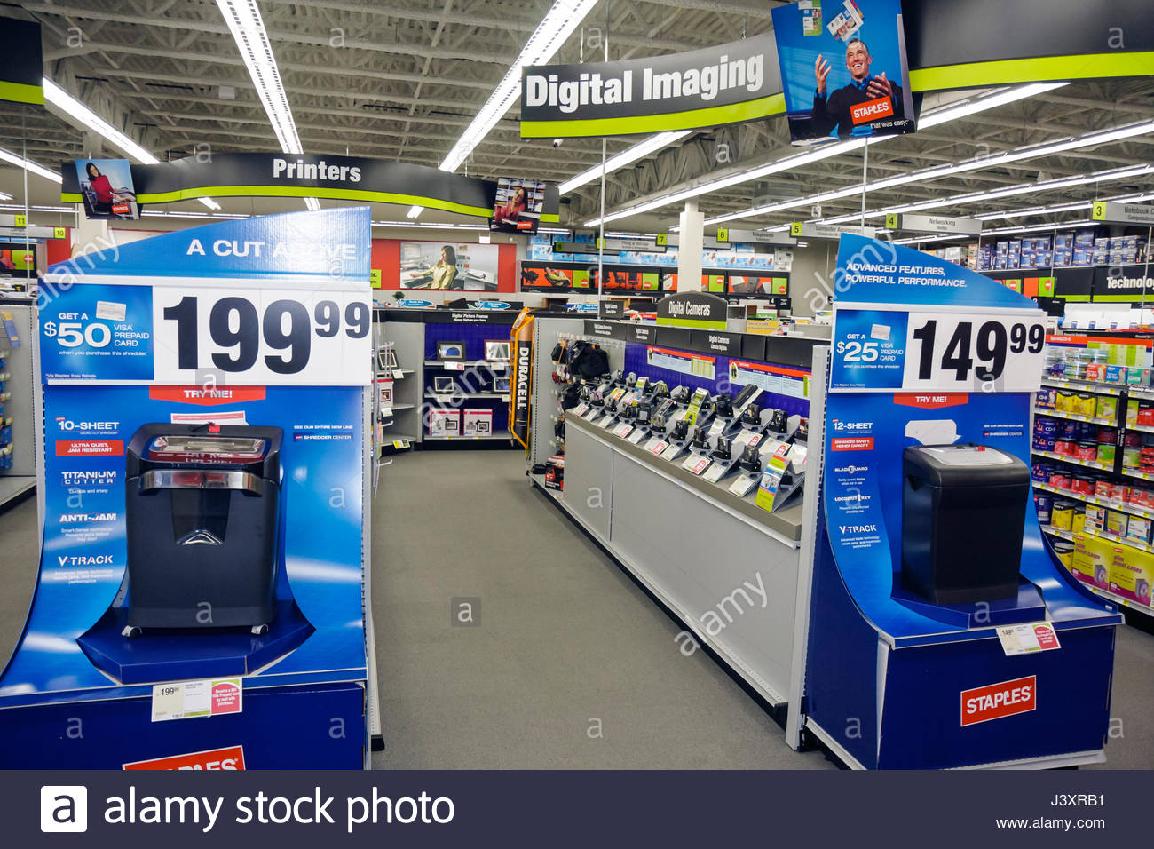 office merchandise. Miami Florida Staples Office Supply Products Store Retail Business Chain Merchandise Display Printers Shredder Price Pro L