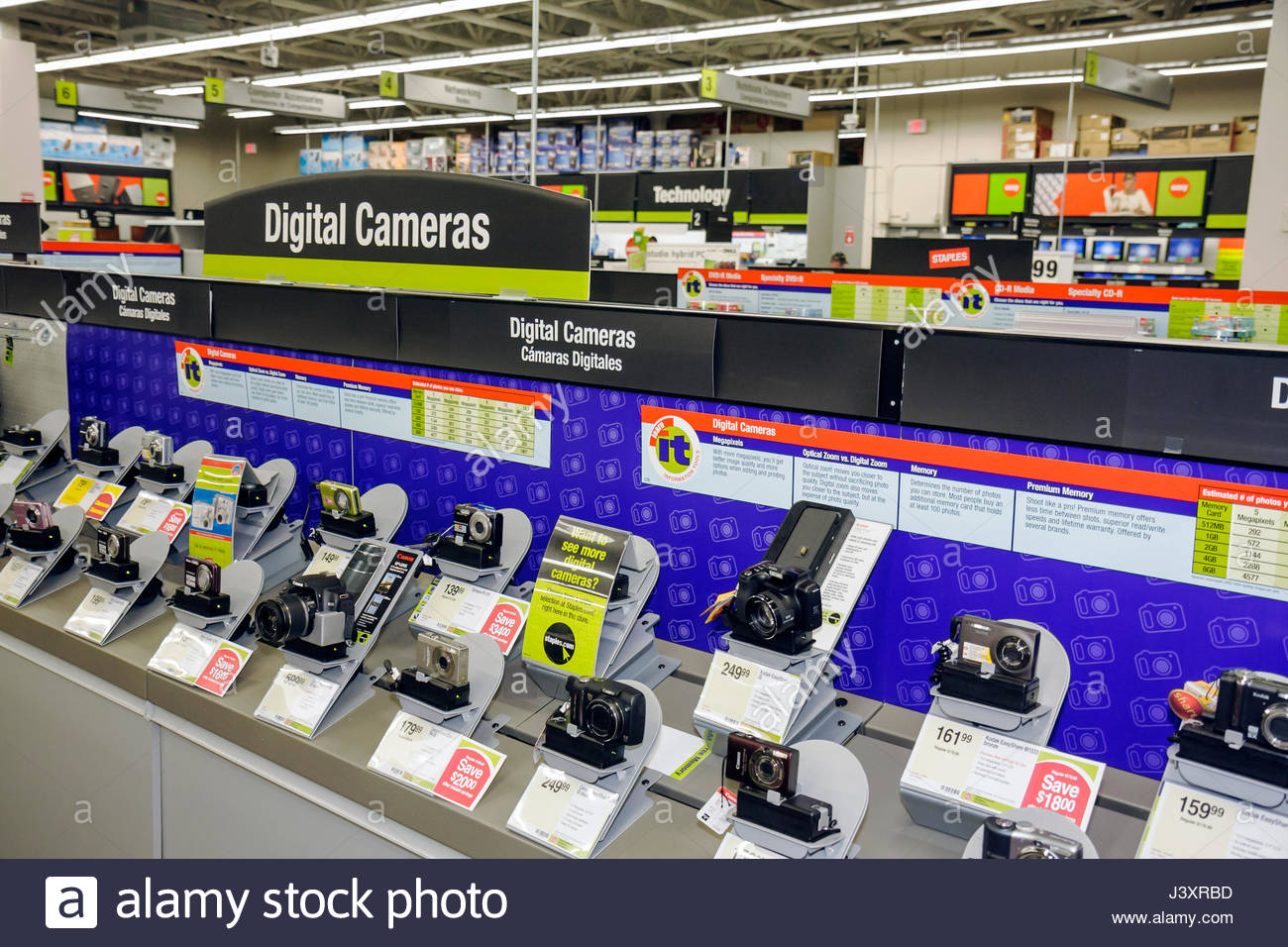 office merchandise. Miami Florida Staples Office Supply Products Store Retail Business Chain Merchandise Display Digital Camera Price C