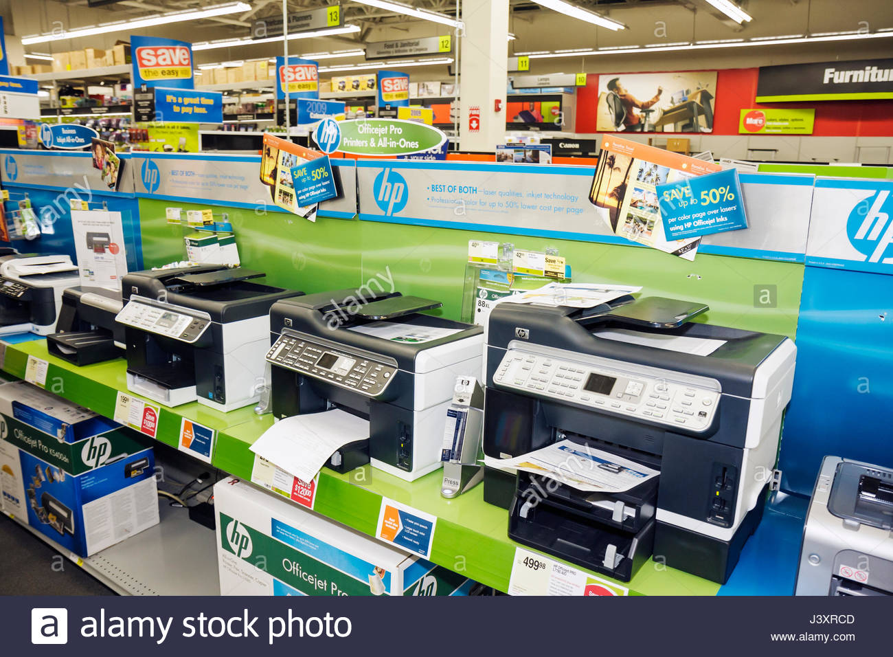 office merchandise. Miami Florida Staples Office Supply Products Store Retail Business Chain Merchandise Display Printer Lexmark All-in-one Wireless I