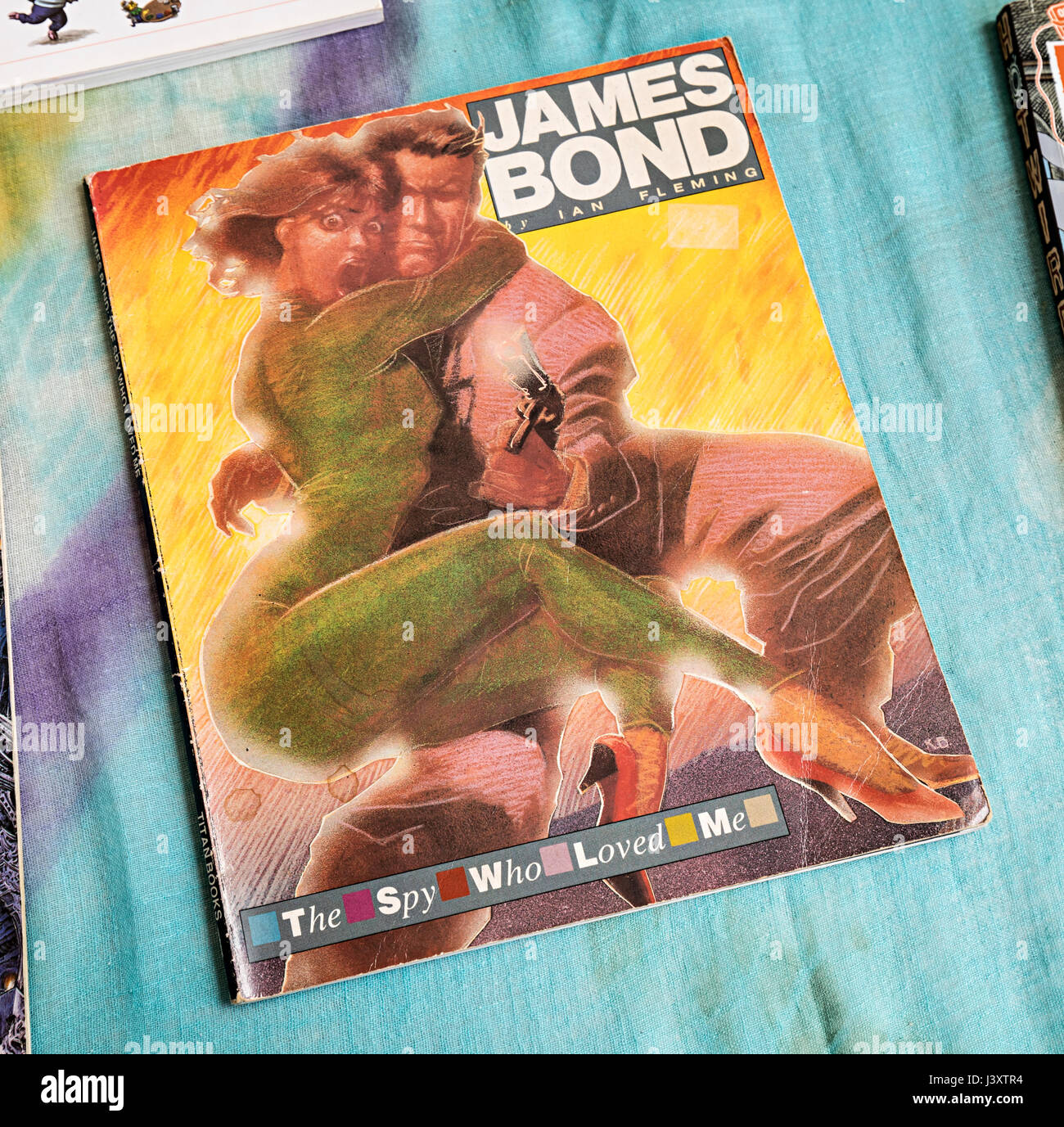 James Bond graphic comic story book of The Spy Who Loved Me published in 1989 - Stock Image