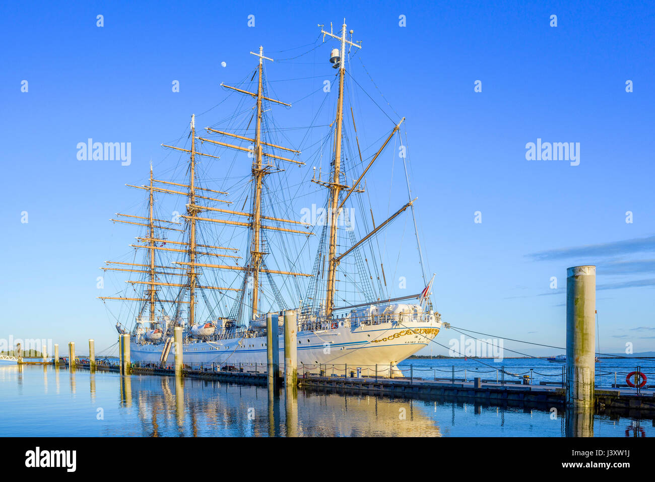 Japanese Tall Ship, Kaiwo Maru, King of the Sea, Ships to Shore Festival, Richmond, British Columbia, Canada. - Stock Image