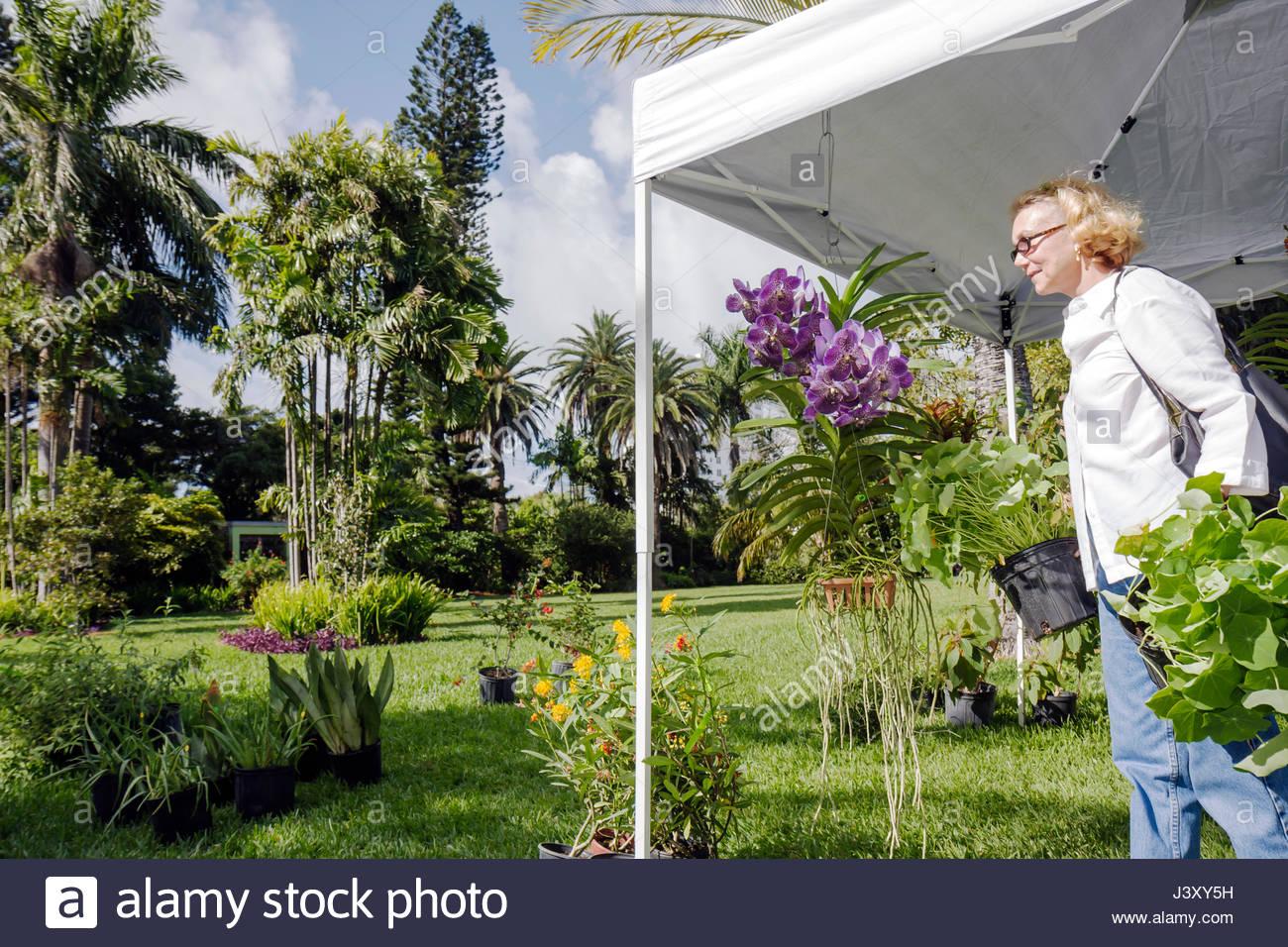 Miami Beach Miami Florida Beach Botanical Garden Tour Of Miami Beach Gardens  Horticulture Gardening Woman Orchid Plants Flower T