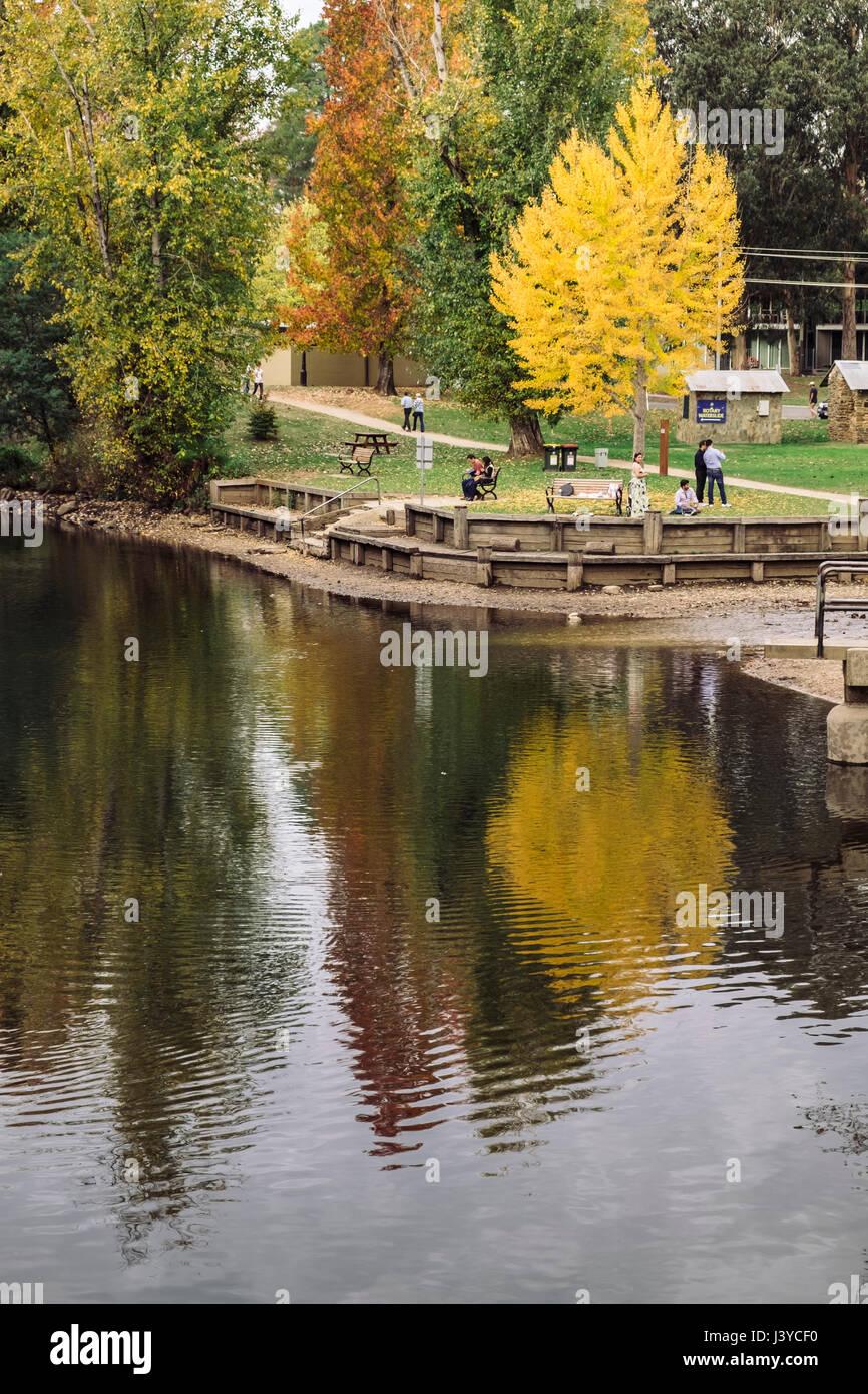 Bright in Autumn, Victorian High Country, Victoria, Australia - Stock Image