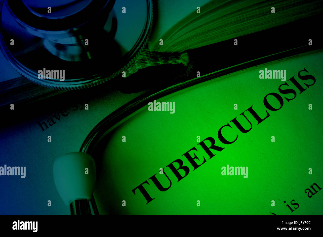 Document with diagnosis tuberculosis. Lung disease concept. - Stock Image