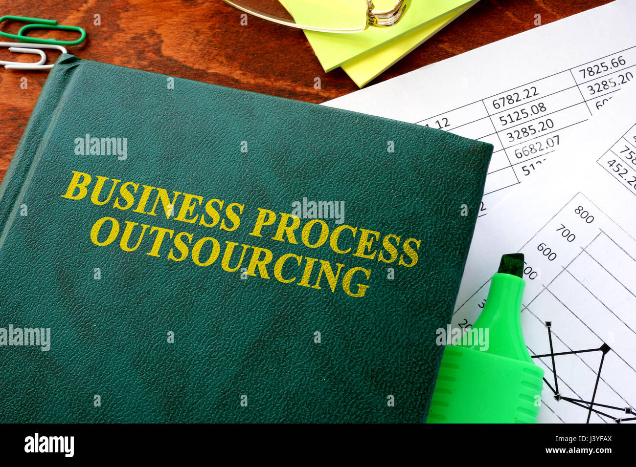 Book with title Business Process Outsourcing, BPO. - Stock Image