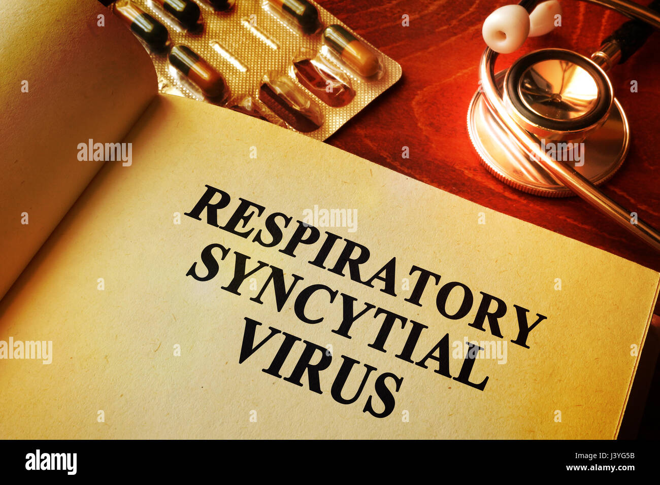 Book with title Respiratory syncytial virus RSV. - Stock Image