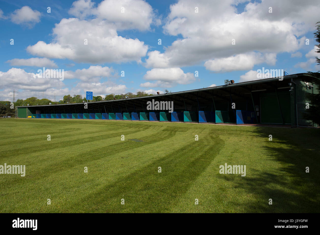 General view of Old St. Mellons golf driving range in Cardiff, Wales, UK. - Stock Image