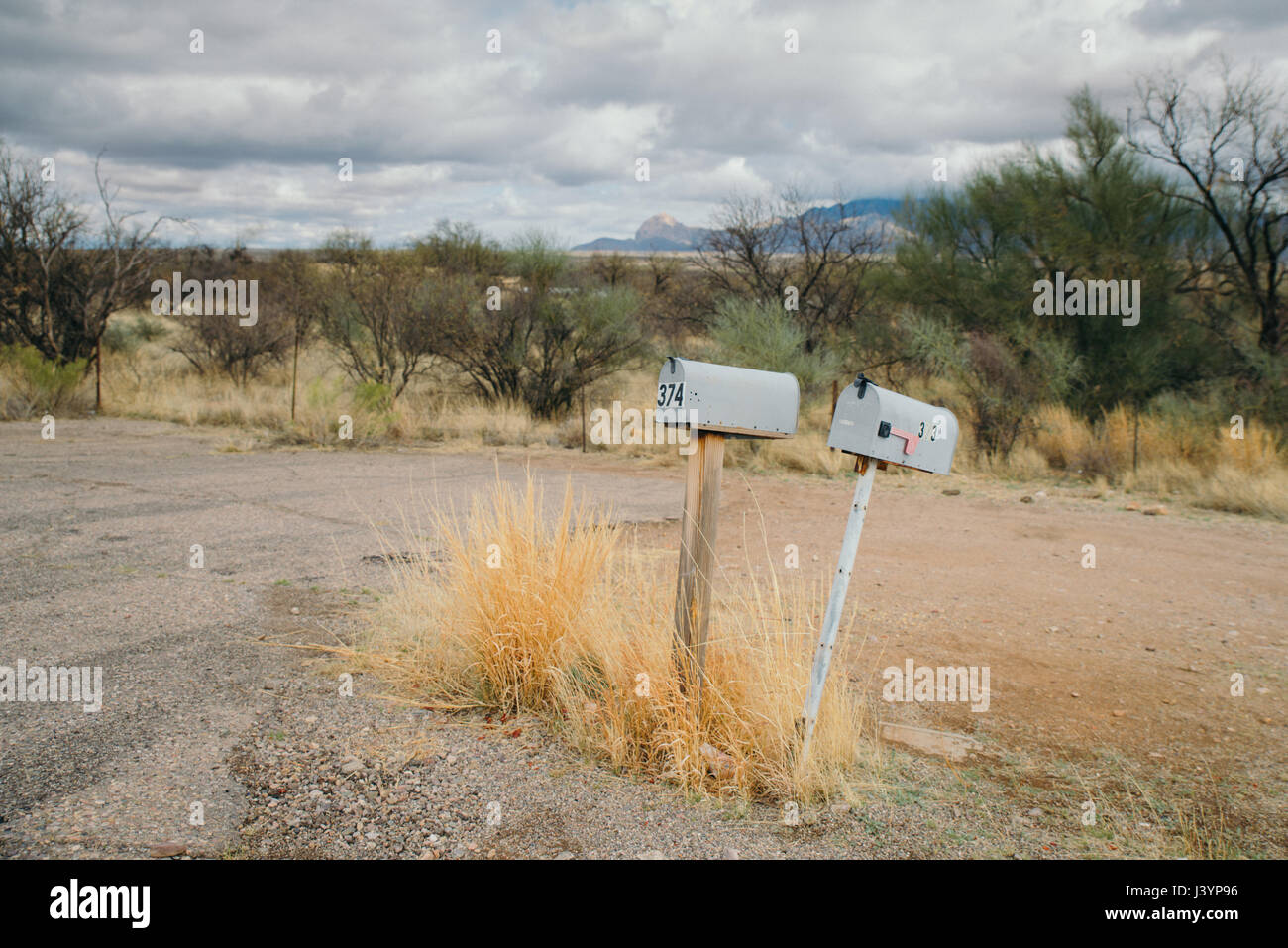 rural mail boxes - Stock Image
