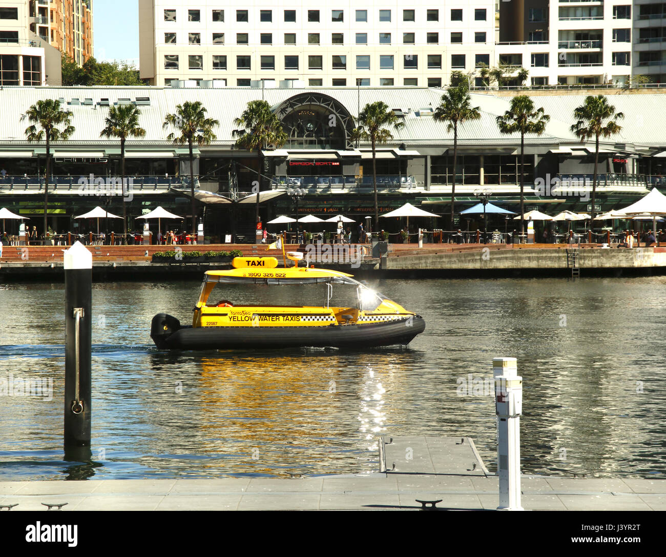 A water taxi in Darling Harbour, Sydney Harbour, Australia - Stock Image
