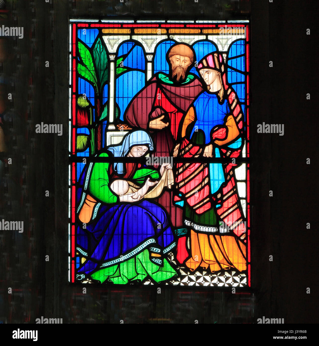 The Story of Ruth, Old Testament, Bible stories, stained glass window - Stock Image