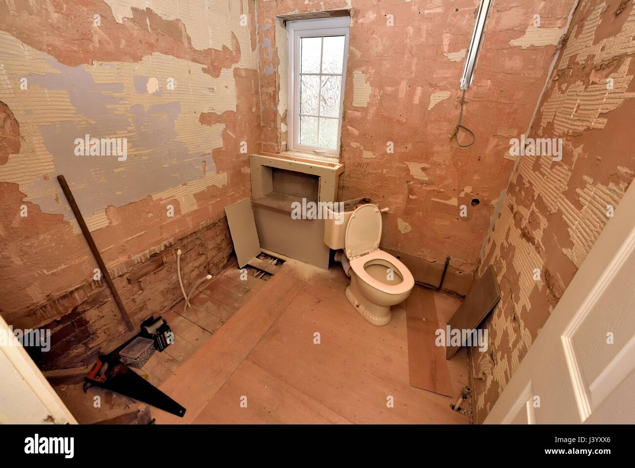 Bathroom Renovation During Pictures Stock Photo Alamy - Bathroom renovation sequence
