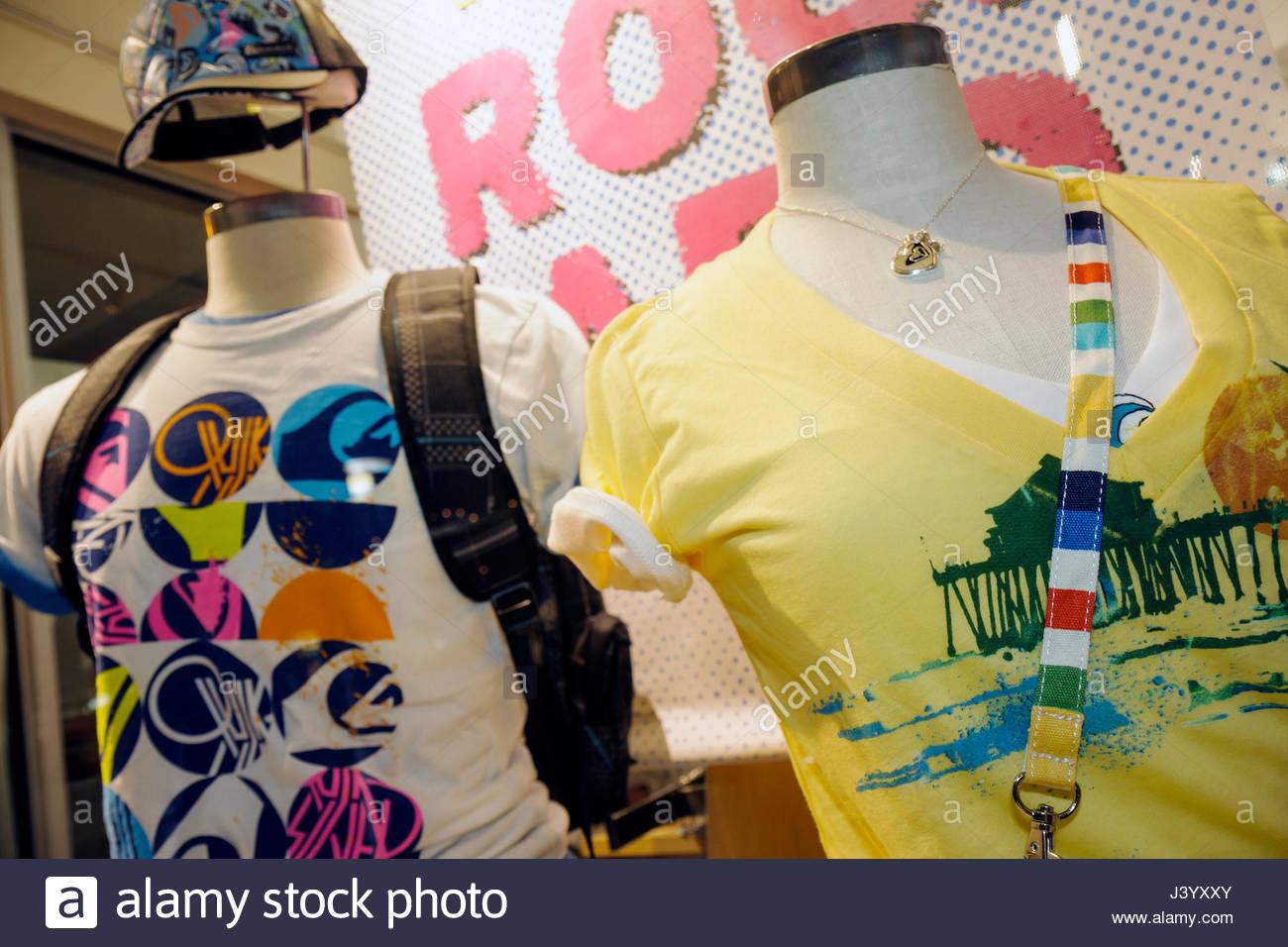 fd834c342a1f62 Miami Beach Florida Lincoln Road pedestrian mall shopping store window  clothes men s t-shirt tee