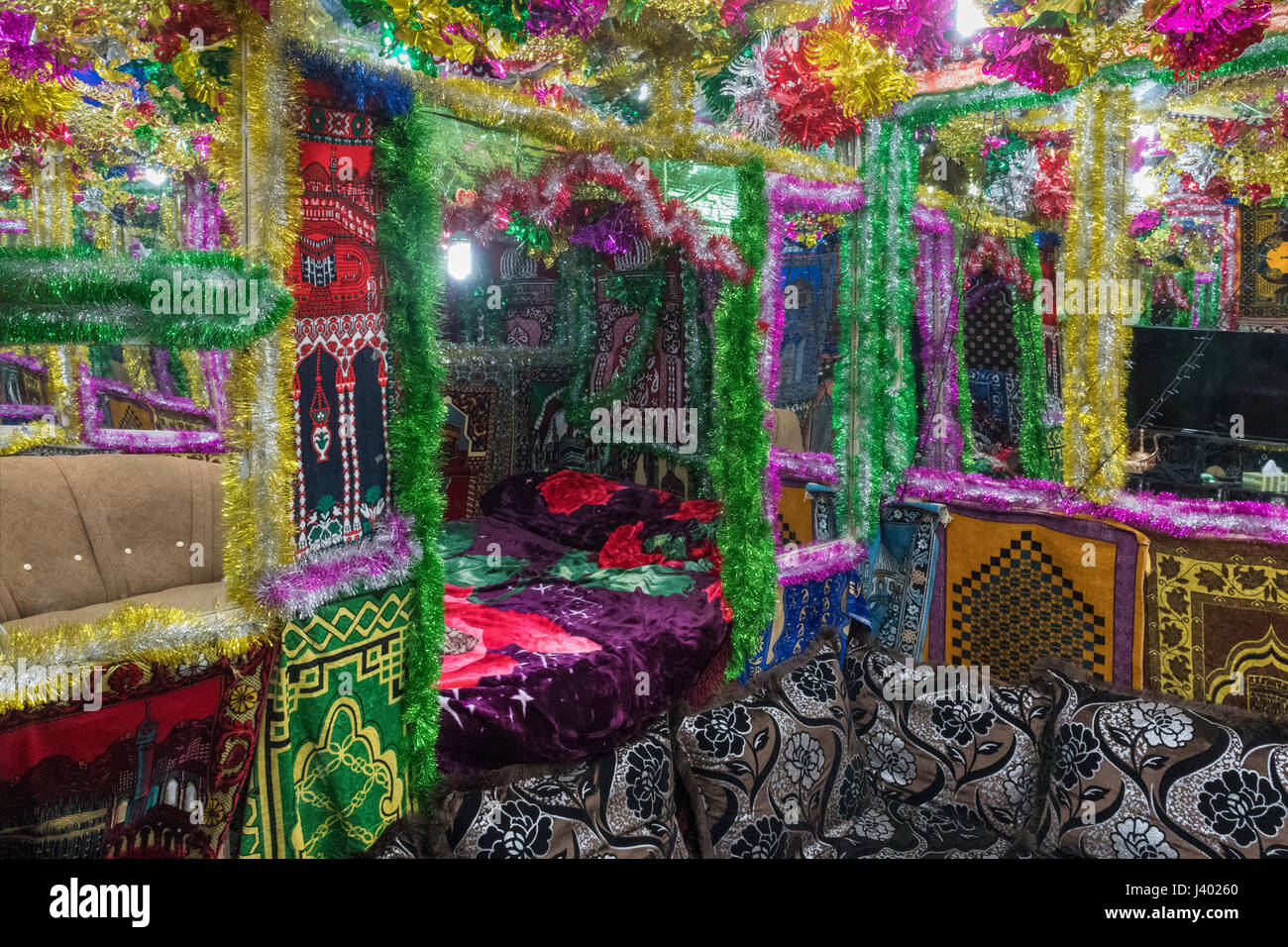 "The ""love room"" Inside The Bride's House In Which The Couple Will Spend At Least A Week, Traditional Wedding, - Stock Image"