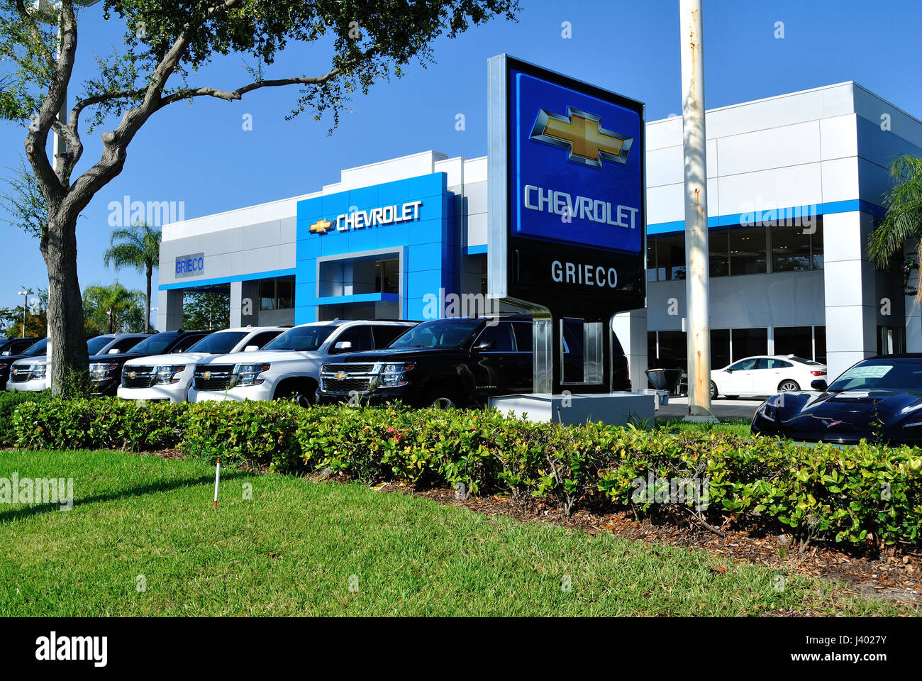Greico Chevrolet Fort Lauderdale Florida May 2017.  Chevrolet is a division of General Motors - Stock Image