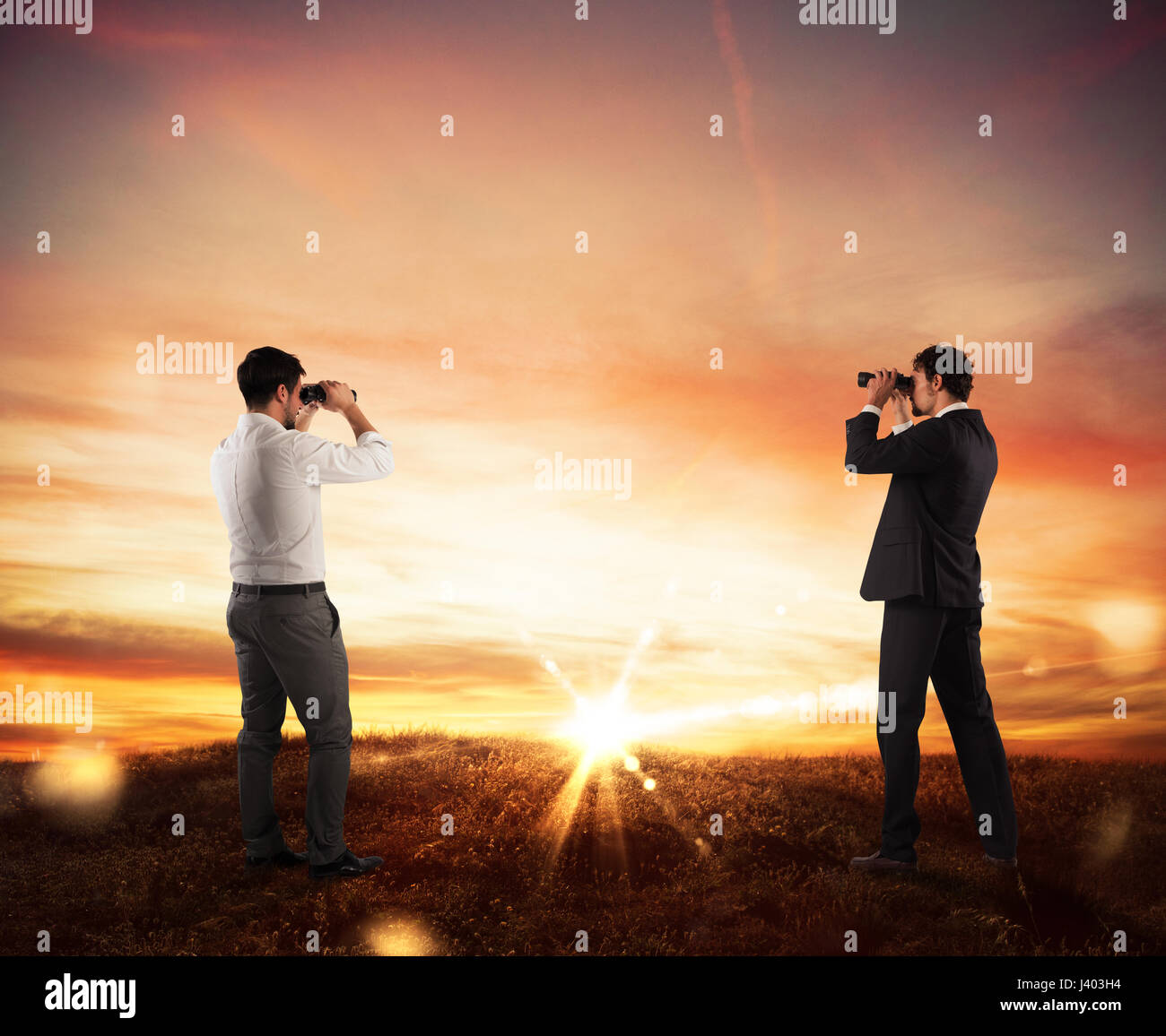 Aspiration and desire to succeed in business - Stock Image