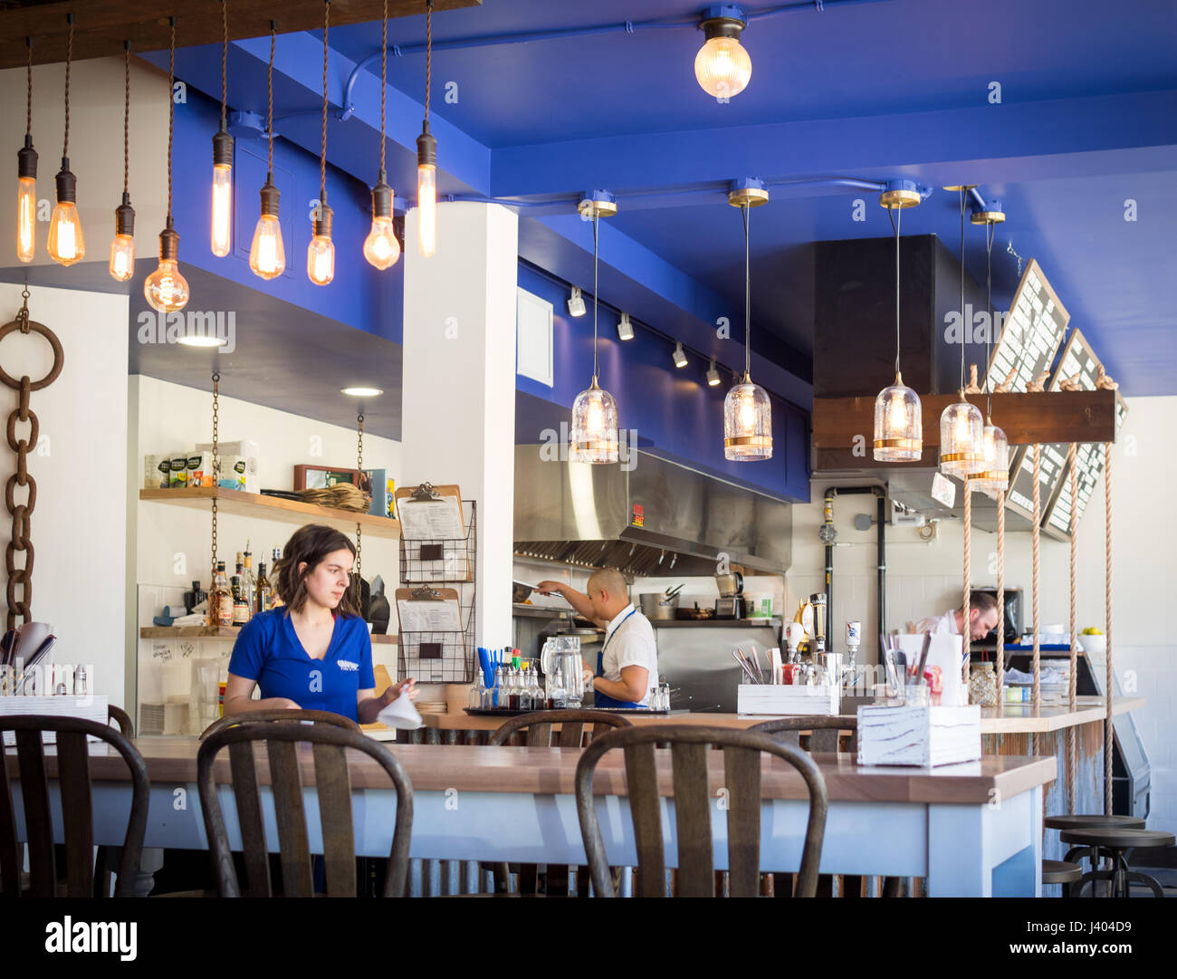 The Interior Of Grandin Fish N Chips A Popular Fish And Chips Shop Stock Photo Alamy