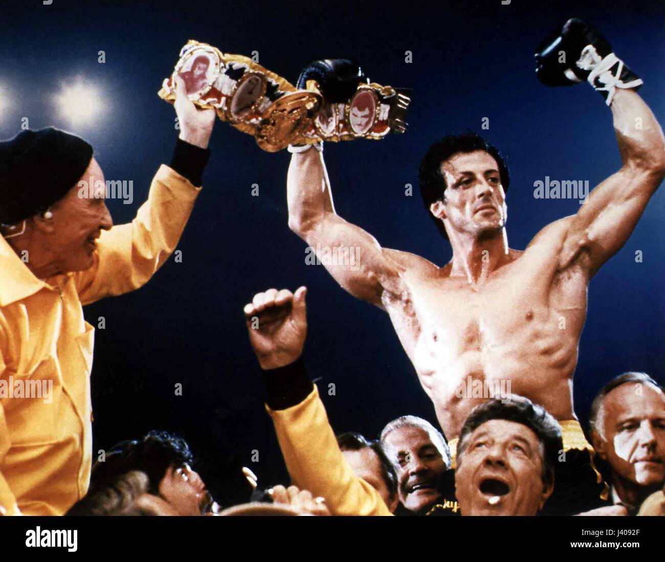 Rocky III, aka: Das Auge des Tigers, USA 1982, Regie: Sylvester Stallone, Darsteller: Burgess Meredith, Sylvester - Stock Image