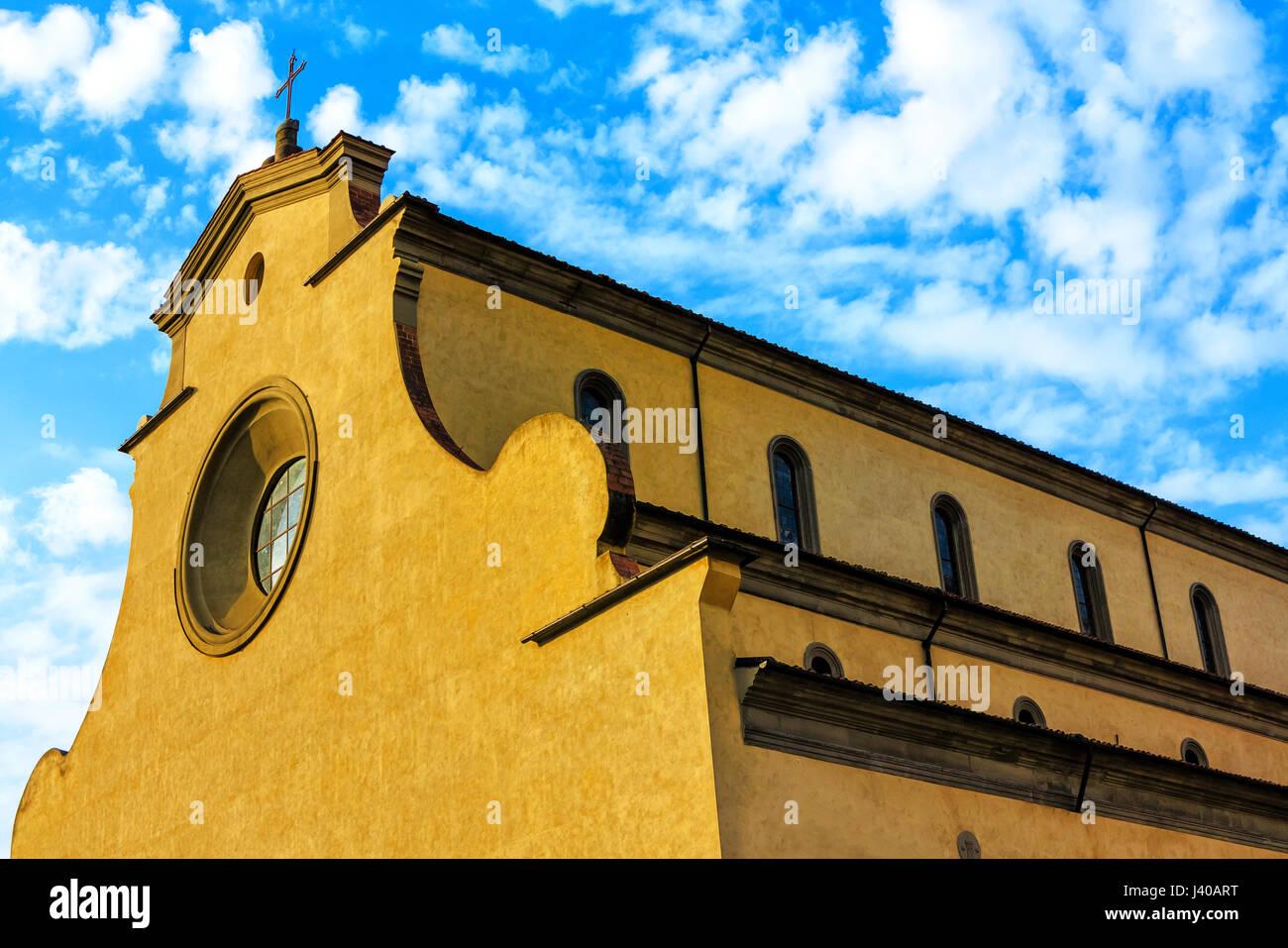 Santo Spirito (La basilica di Santa Maria del Santo Spirito) is a Renaissance church Basilica minor with an Augustinian - Stock Image
