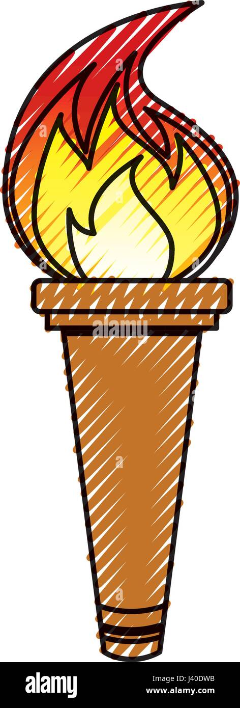 Olympic torch isolated icon - Stock Vector