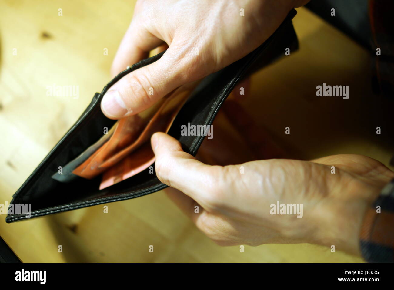 Counting money - Stock Image