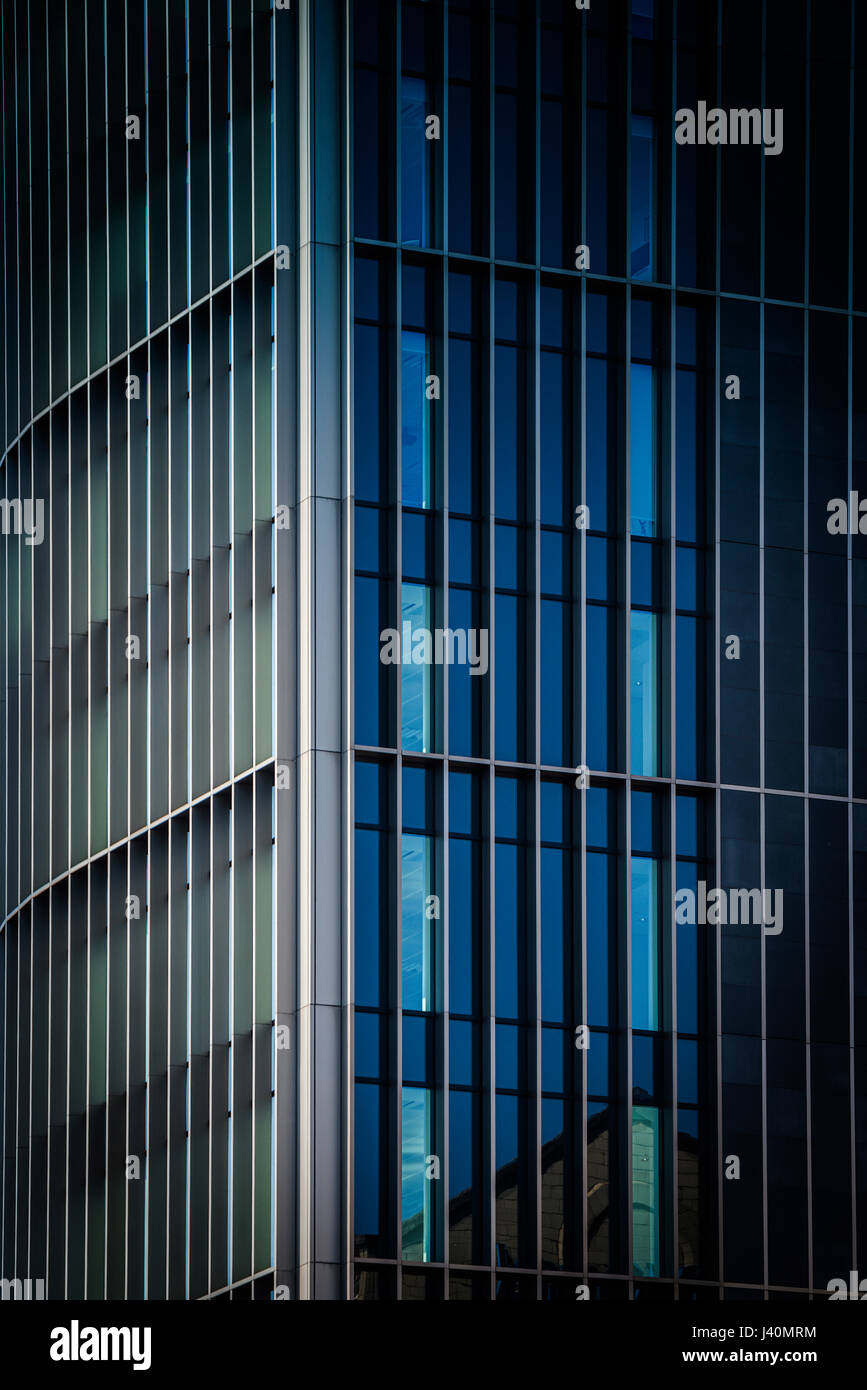 Detail of indistinctive office building, Uk - Stock Image