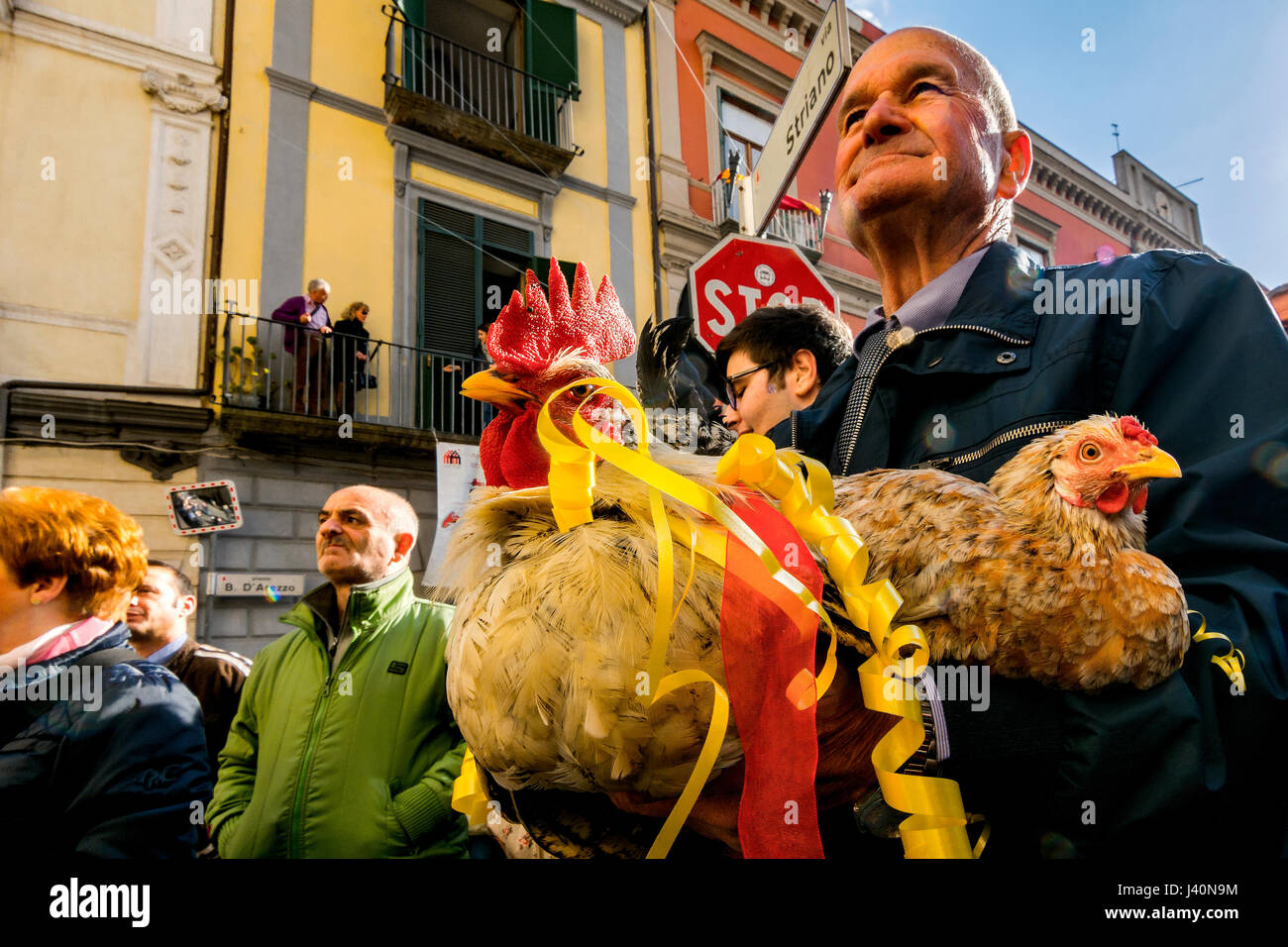 Madonna of the Hens, popular festival of the town of Pagani, Salerno, Italy. Stock Photo
