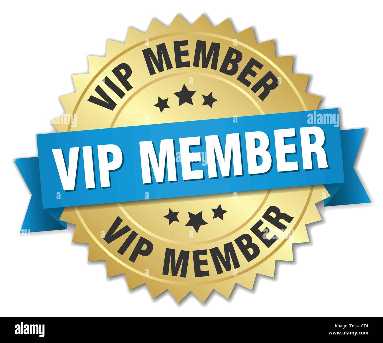 vip member round isolated gold badge - Stock Image