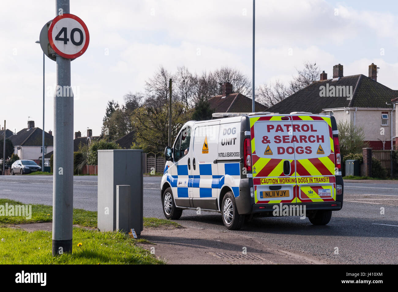 A Patrol & Search Dogs van in the Uk - Stock Image