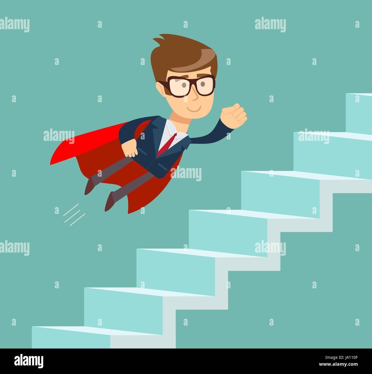 Cartoon Man Climbing Stairs High Resolution Stock Photography And Images Alamy
