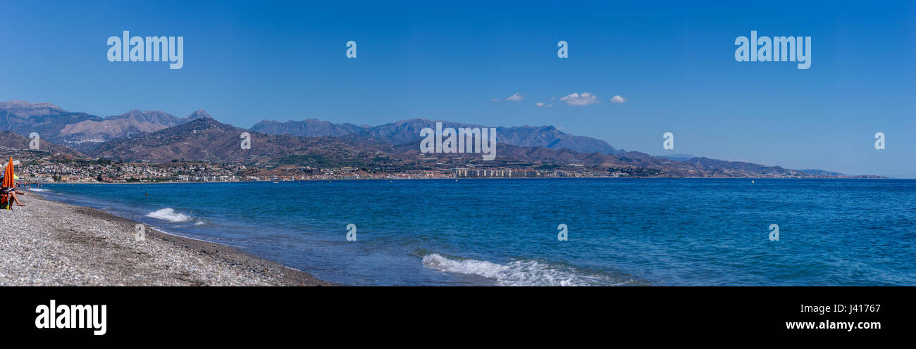 Mediterranean Sea close to Malaga, Costa del Sol, Spain - Stock Image