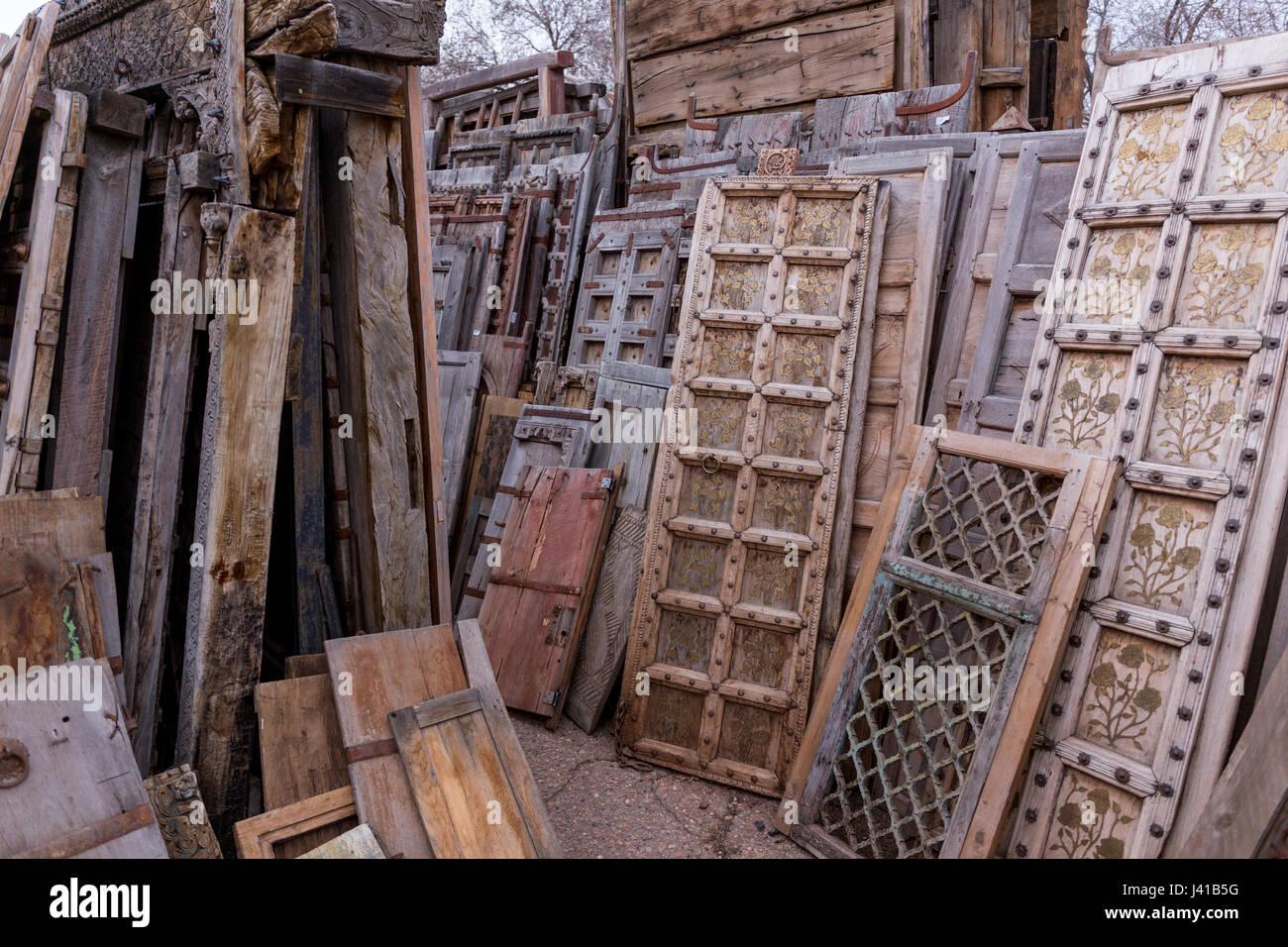old wooden doors Stock Photo