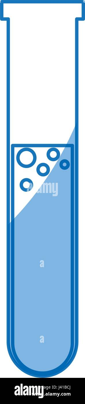 test tube laboratory search science study shadow - Stock Vector