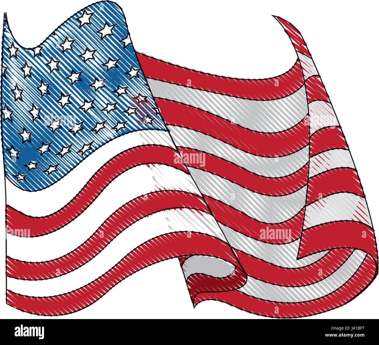 3panel american usa united states of america flag canvas drawing united states of america flag wave stock vector 308
