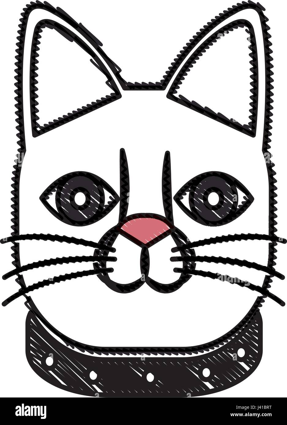 Drawing Japanese Lucky Cat Symbolic Talisman Toy Tradition Stock