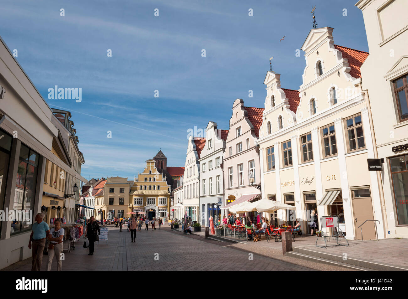 Marketsquare in Wismar, Baltic Sea, Germany, Europe - Stock Image